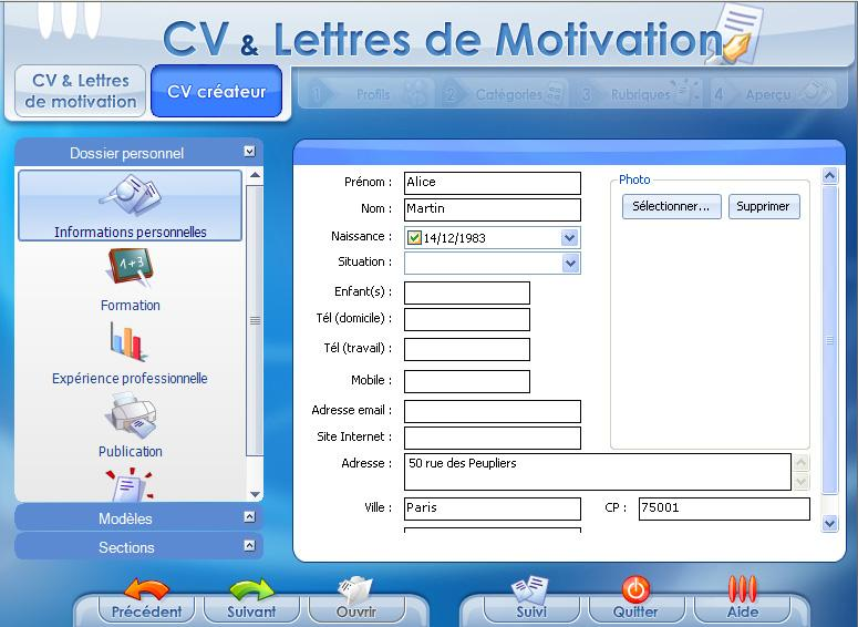 coffret cv  u0026 lettres de motivation