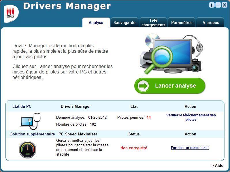 Une fois le logiciel téléchargé, il analyse et scanne tout le PC pour trouver tous  les pilotes manquants et ceux à mettre à jour pour le bon fonctionnement deAvec la version Offline de DriverPack Solution, vous pouvez même  Installer les pilotes si vous n'avez pas de Connexion Internet.