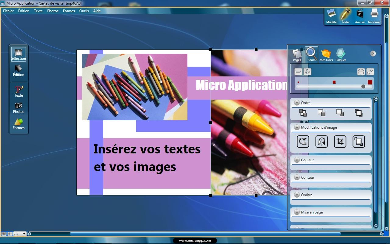 Carte De Visite Gratuite Windows 7