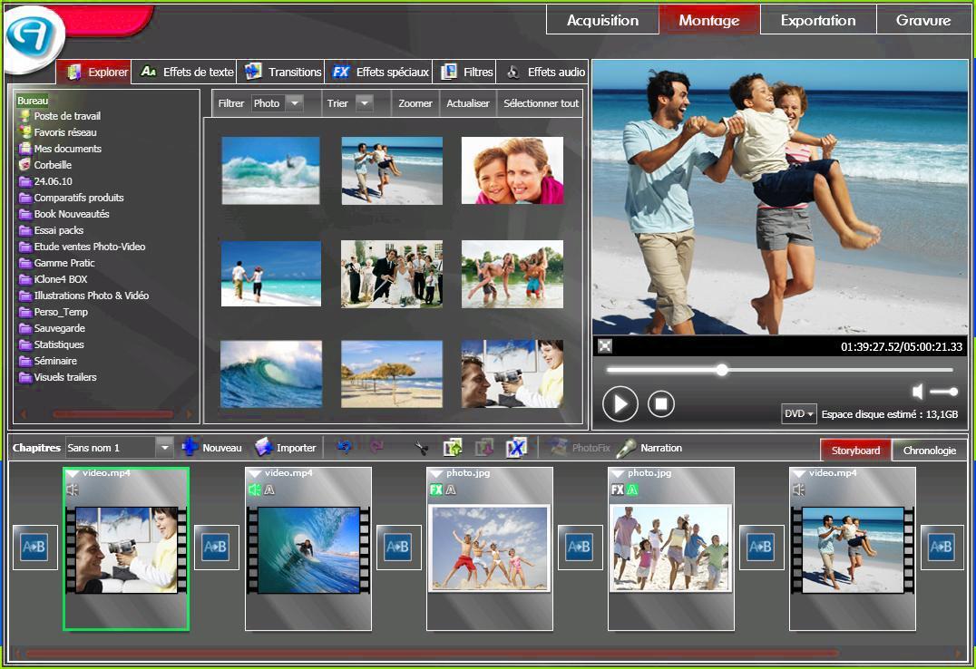 Vid o explosion deluxe montage vid o for Logiciel montage 3d