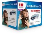 150 Pochettes pour CD & DVD
